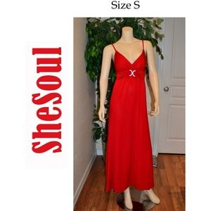 RED SUMMER DRESS BY SHE SOUL SIZE S